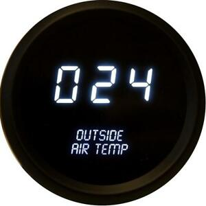 Intellitronix Led Outside Air Temperature Gauge In Black Bezel White