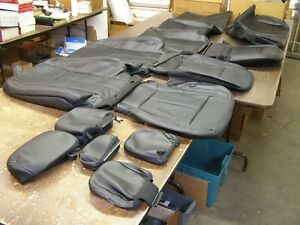 Oem Ford 2017 2018 F150 Truck Leather Seat Covers New S c Set Black Interior Nos