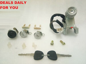 Suzuki Sj410 413 Samurai Jimny Ignition Switch Steering Door Glove Box Lock Set