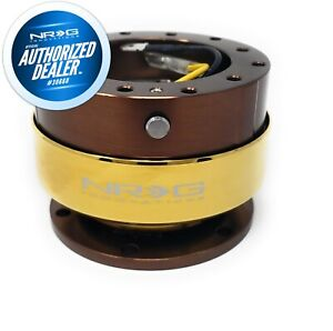 New Nrg Bronze chrome Gold Gen 2 0 Steering Wheel Quick Release Srk 200br cg