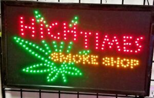 High Times Smoke Shop Sign business Sign store Sign window Sign