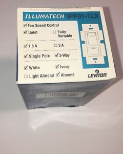 Leviton Fan Speed Control With Locator Light On Off Preset Switch