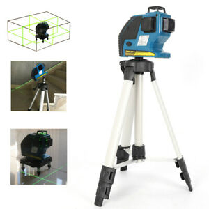 360 Rotary Laser Level Self levelling Cross Line Measuring Tripod Stand Case