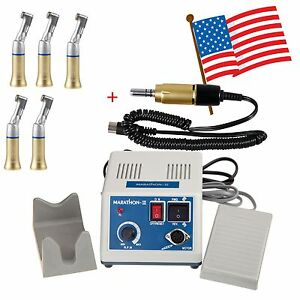 Dental Lab Marathon 35k Rpm Micro Motor 5x Contra Angle Low Speed Handpiece Fh e