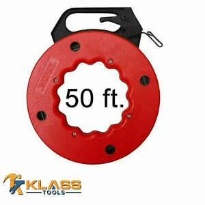 50 Ft Heavy Duty Steel Cable Fish Tape For Cable wire Pulling Tool