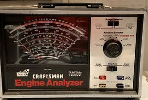 Sears Craftsman Electronic Engine Analyzer 161 210400 W manuals box Not Tested