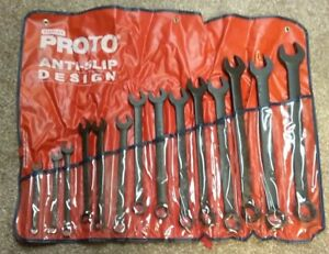 Proto J1200f mbasd 14 Pc Metric Protoblack Combination Asd Wrench Set 12 Pt