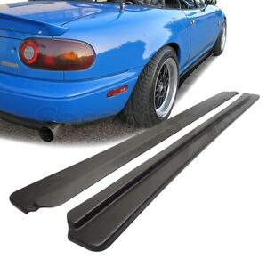 Fit For 90 97 Mazda Miata Na Mx5 Fd Style Pu Side Skirts Extension Lip Splitter
