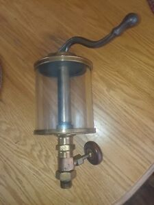 Powell Pennant 5 Brass Glass Pump Oiler Lubricator Steam Engine
