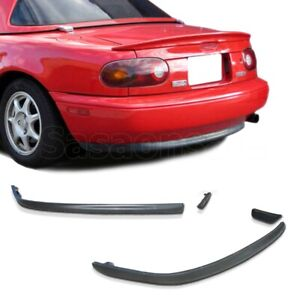 Fit For 90 97 Mazda Miata Mx5 R Speed Style Jdm Rear Pu Bumper Spoiler Lip
