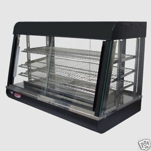 Heated Food Display Warmer Cabinet Case 36 3 Shelf Unit 110 Volt 1500 Watts