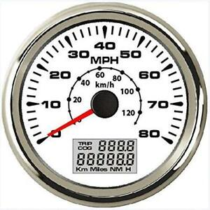 Eling Universal Gps Speedometer Odometer 80mph 120km H With Odo Cog Trip 85mm