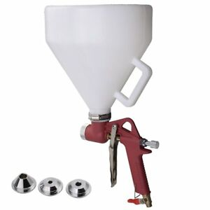 New Air Hopper Spray Gun Paint Texture Tool Drywall Wall Painting Sprayer W 3