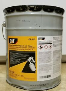 Genuine Oem Cat Yellow Five 5 Gallon New Caterpillar Paint 458 9577 Implement