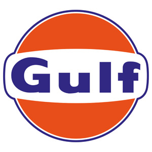 Gulf Vintage Style Vinyl Sticker Car Truck Decal Gasoline Petroleum Racing Gas