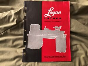 Original Vintage 23pg Logan Lathe Metal Shaper Accessories Tooling Catalog 1957