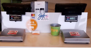 2x Sam4s Spt 3000 Pos All in one Touch Screen W Cash Drawer Printer Scales
