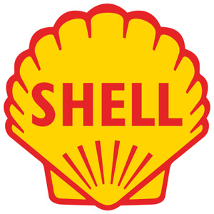 Vintage Shell Oil Gas Gasoline Vinyl Sticker Car Truck Window Decal Pump Station