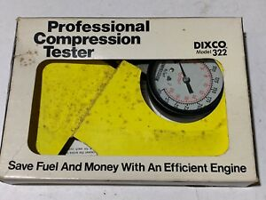 Vintage Dixco Professional Compression Tester Model 322 Dixson Made In Usa W Box