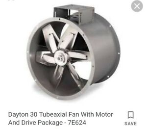 30 3 Phase Tubeaxial Fan With Motor And Drive Package