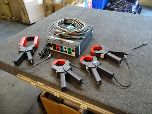 Rpm Fluke Reliable Power Meters 1656 W 5 Cables 4 Clamp ons 1000a 3000a