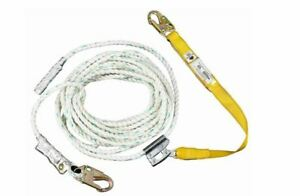 Upgear By Werner 50 Ft Rope Lifeline With Lanyard Protective Safety Polydac New