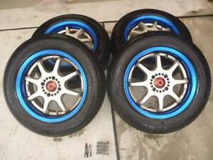 Jdm Weds Sports H K Rmp 15 4x100 6 5j Mugen Spoon Te37 Civic Wheels Japanrims