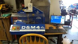 D m4 Sherline Cnc Mill With Centroid Acorn Cnc Control 4th Axis
