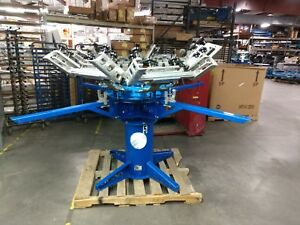 Bwm Hopkins Convertible Pedestal Machine 6 Color 4 Station