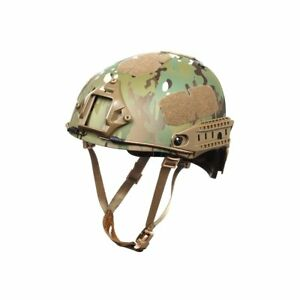 Outry Tactical Fast Helmet Adjustable ABS Helmet wSide Rails and NVG Mount M20