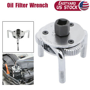 3 Leg Oil Filter Wrench Adjustable Universal Removal Socket 1 2 3 8 Drive Us