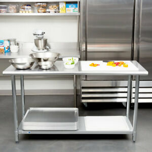 24 X 60 Stainless Steel Work Prep Table Adjustable Undershelf Restaurant