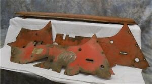 4 Allis Chalmers Parts Vintage Farm Implement Machinery Tractor Sign Steampunk