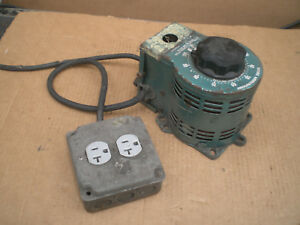 Staco Variable Transformer Variac 120vac Input 120 140vac Output 10a