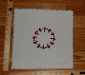 Heart Wreath Embroidered Candle Mat Approx 11 Square Valentine S Day Heart
