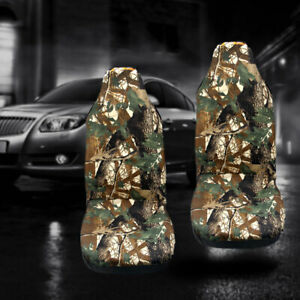 2x Camo Bucket Seat Covers Camouflage Universal Car Truck Front Silverado F150