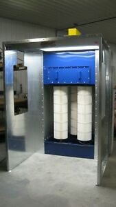 Powder Paint Booth open Type 6 Wide X 7 Tall
