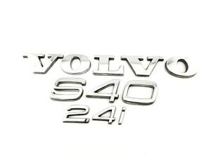 05 06 07 09 10 11 Volvo S40 2 4i 2 4 Rear Lid Trunk Emblem Logo Badge Set Oem 09