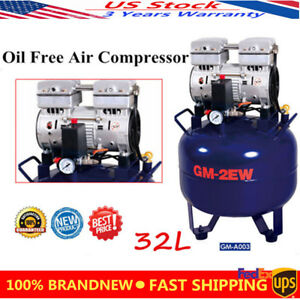 32l Dental Noiseless Oilless Air Compressor Pressure Motor Oil Free Air Compress