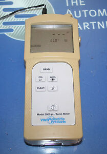 Vwr Scientific Model 2000 Ph temp Meter
