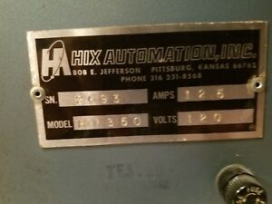 Hix Automation Inc Heat Press Good Overall Used And Original Conditions