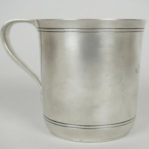 Tiffany Co Makers Sterling Silver Baby Child Mug Cup Monogram Jbp