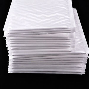 10x lot White Poly Bubble Mailers Padded Envelopes Shipping Bags Self Seal