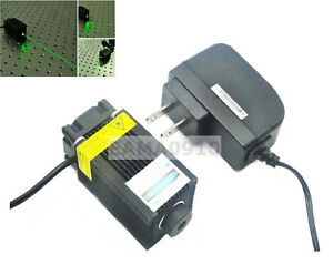532nm 100mw Dot Green Semiconductor Laser Module W 12v Adapter Long Time Work