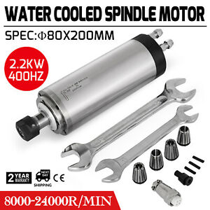 New 2 2kw Hy Water cooled Spindle Motor Engraving Milling Grinding Er20 For Cnc