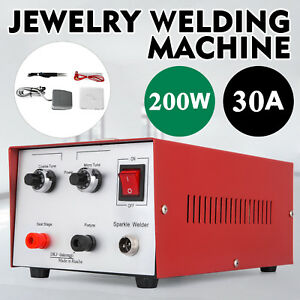 30a 200w Spot Welder Jewelry Welding Machine Titan Forceps Clamp Tungsten 110v