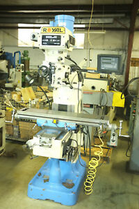 Royal Fortune Milling Machine 42 table 2hp Vari Speed Dro Servo Feed