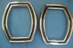 1965 Ford Galaxie 500 Xl Tail Light Bezels Early Take Offs From Assembly Line