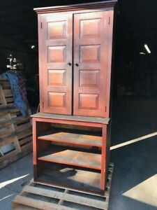 Vintage Pine Country Cupboard W Raised Panels 7 X 3