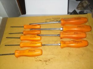 Snap On 9pc Torx Orange Hard Handle Set T8 T10 T15 T20 T25 T27 T30 T40 T45 Usa